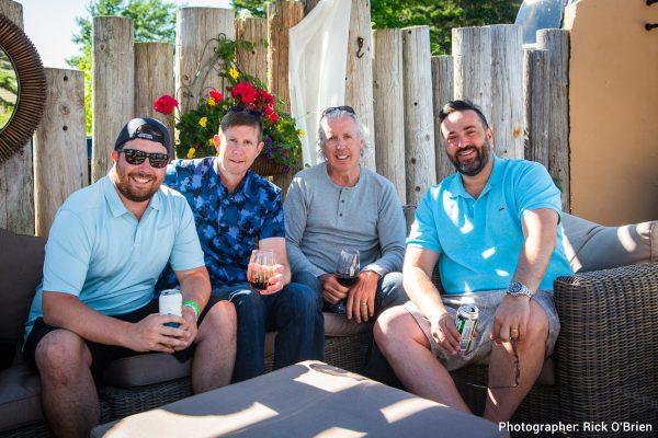Left to right (Canna Island - Sam Murphy, Steve Dunne, Kevin Murphy and Hugo Alves, President and Director, Auxly Cannabis Group)
